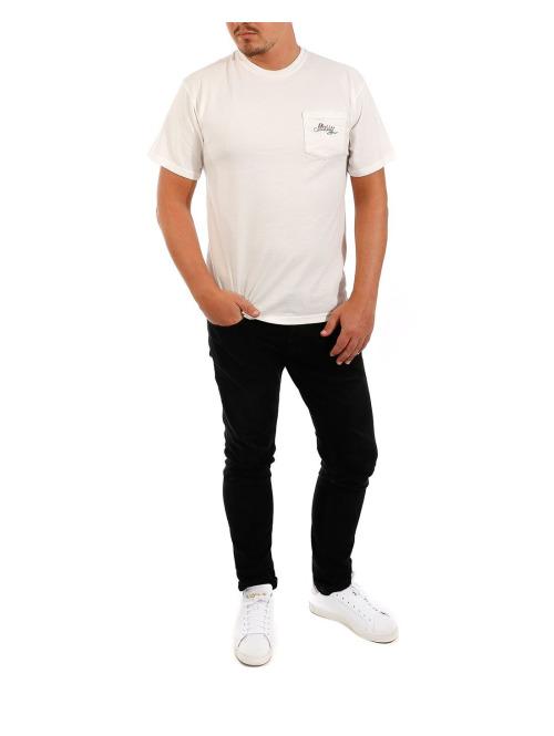 Stüssy T-Shirt Menu Pigment Dead Pkt weiß