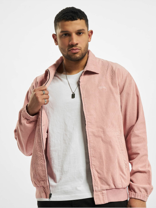 Stüssy Winterjacke Bleached out cord pink