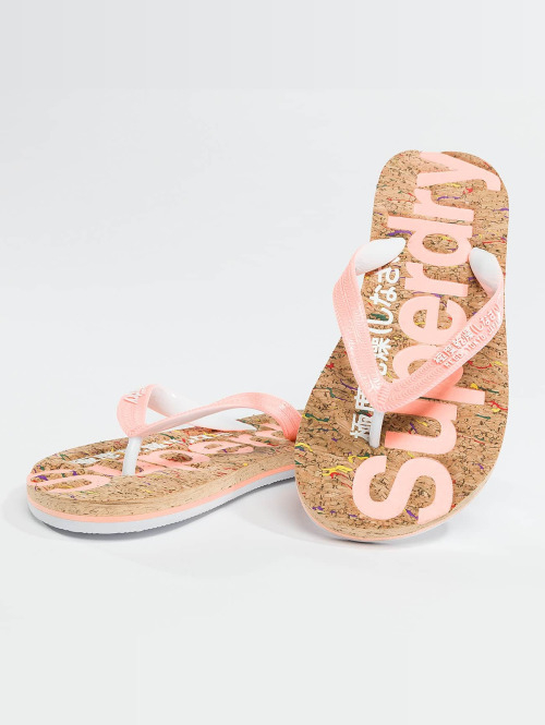 Superdry Slipper/Sandaal Cork oranje