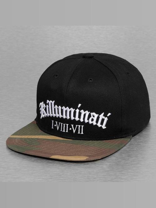 Thug Life Snapback Cap killuminati schwarz