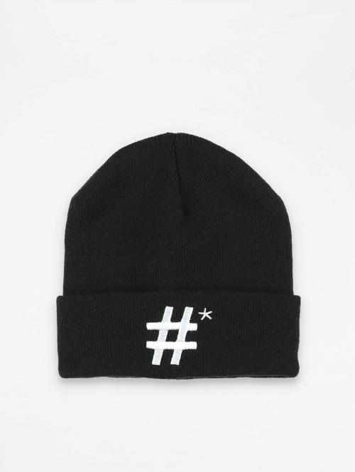 TrueSpin Beanie Hashtag schwarz