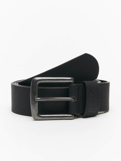 Urban Classics Vyöt Leather Imitation musta