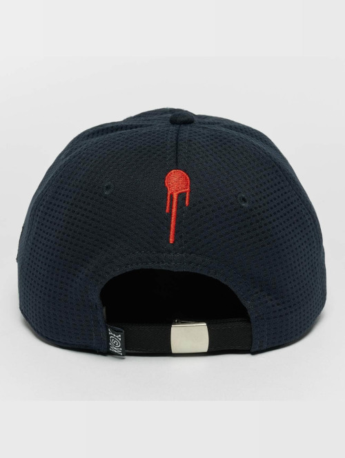 Who Shot Ya? Flexfitted Cap Crew Daddy blau
