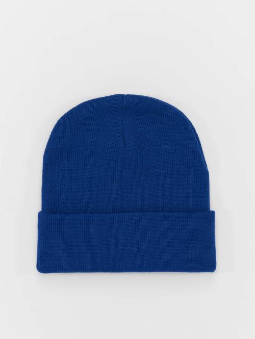MSTRDS Beanie Basic Flap blau