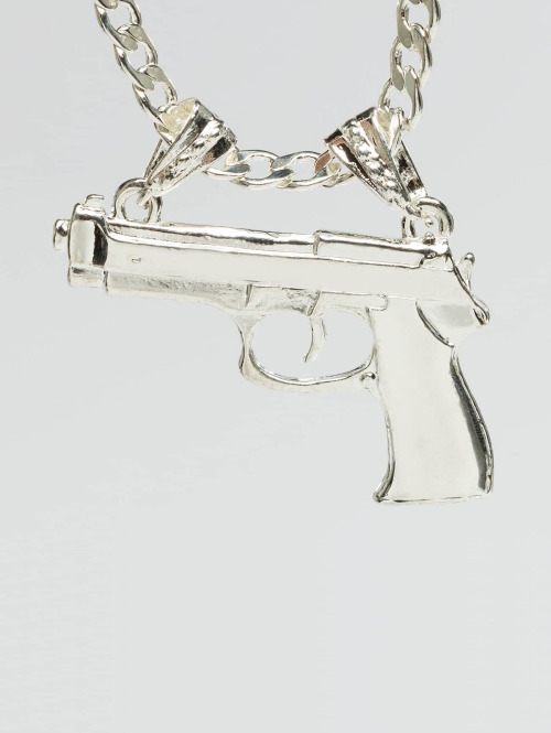 Paris Jewelry Kette Pistol silberfarben
