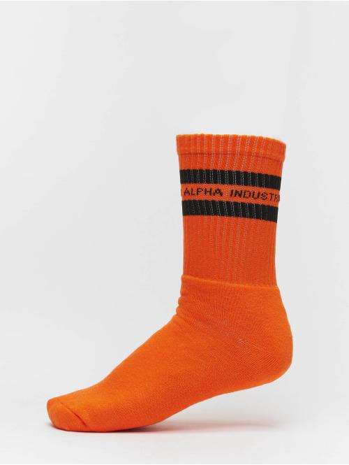 Alpha Industries Socken 3 Pack Stripes orange