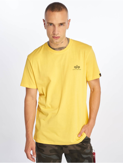 Alpha Industries T-Shirt Basic Small Logo gelb