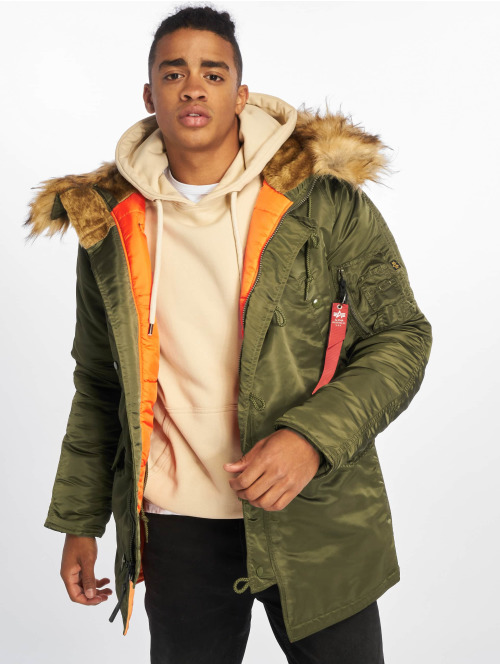 Alpha Industries Winterjacke N3b Vf 59 grün