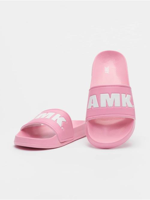 AMK Sandalen Logo rosa