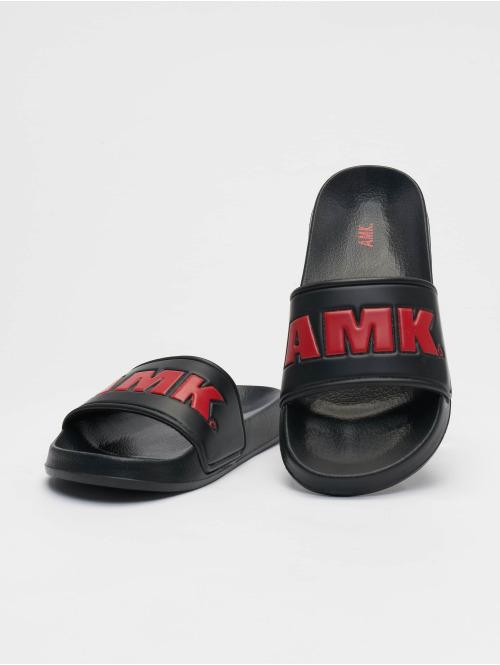 AMK Sandalen Logo schwarz