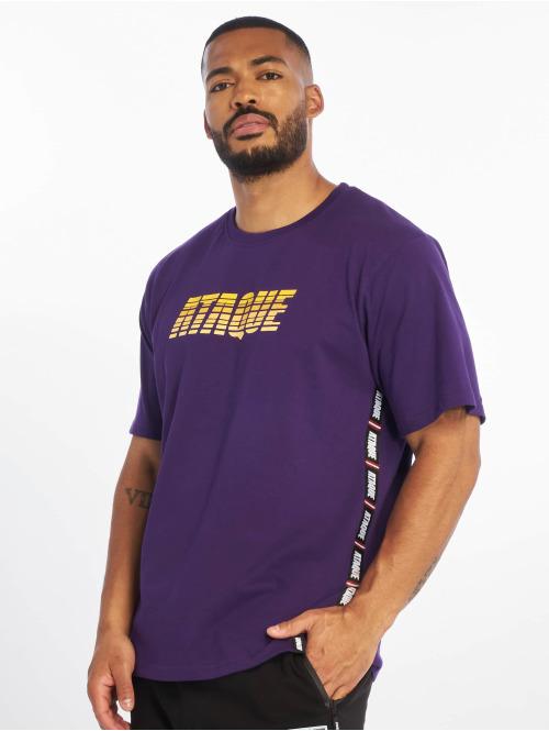 Ataque T-skjorter  Junin T-Shirt Purple/Yel...