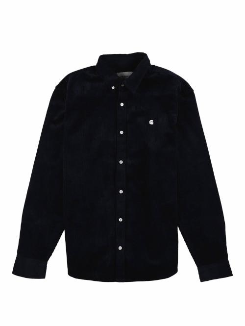 Carhartt WIP Hemd Madison Cord blau