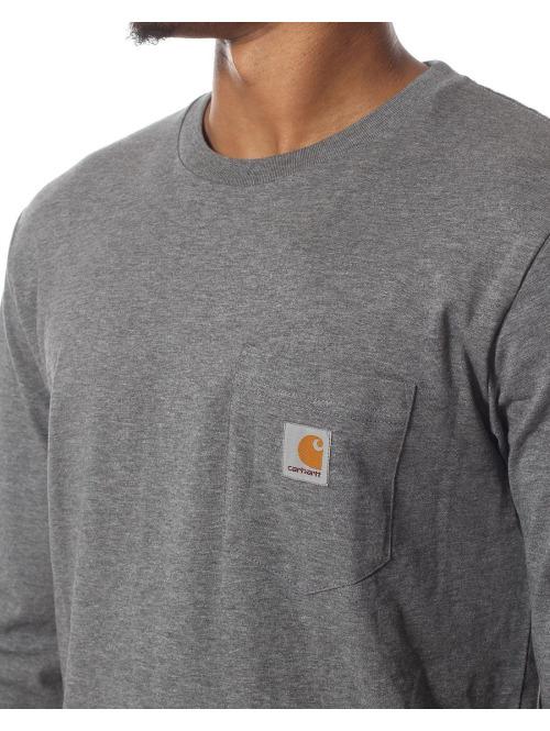 Carhartt WIP Longsleeve LS Pocket grau