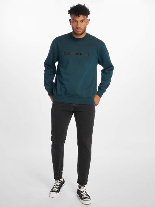 Carhartt WIP Pullover Label blau