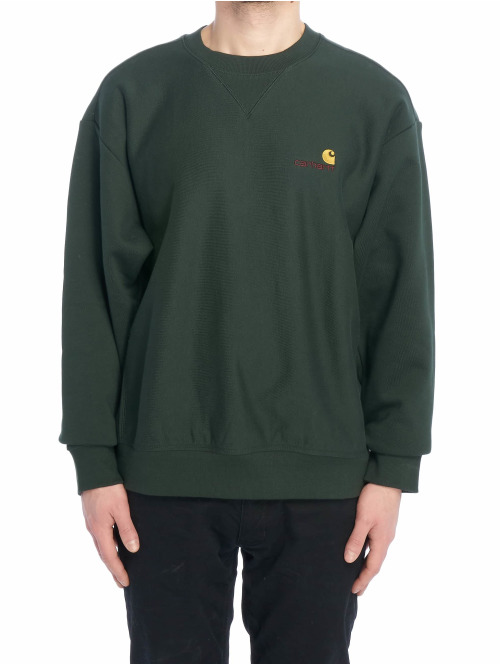 Carhartt WIP Pullover American Script grün