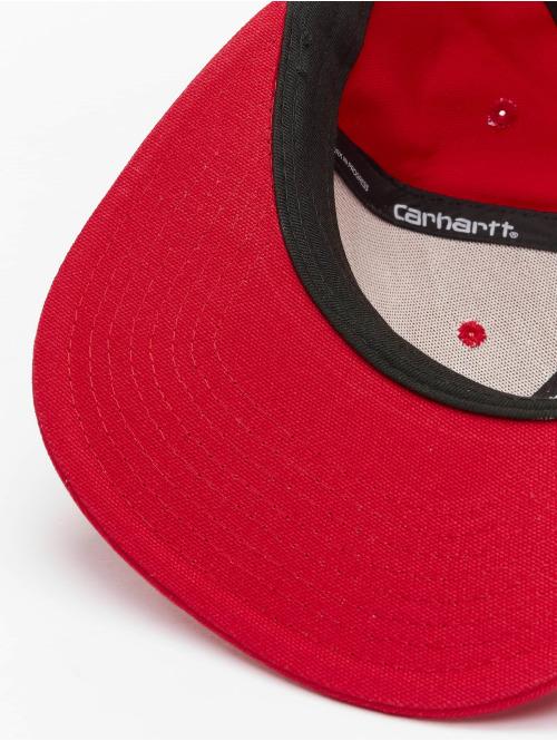 Carhartt WIP Snapback Cap Logo rot