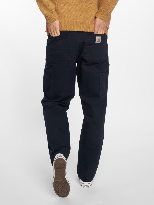 Carhartt WIP Straight Fit Jeans Single Knee blau