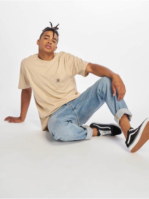 Carhartt WIP T-Shirt Pocket beige