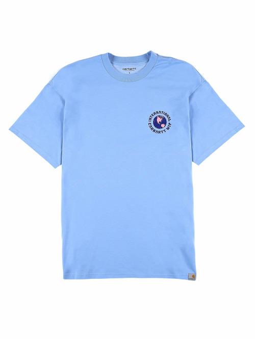 Carhartt WIP T-Shirt Globe blau