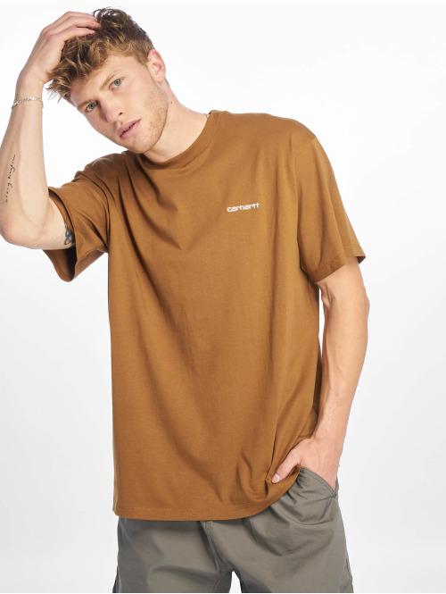 Carhartt WIP T-Shirt Script Embroidery braun