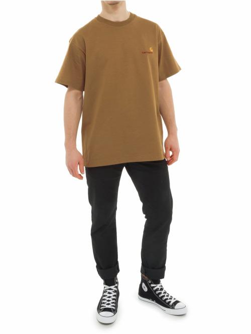 Carhartt WIP T-Shirt American Script braun