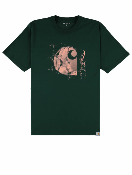 Carhartt WIP T-Shirt Broken Glass grün