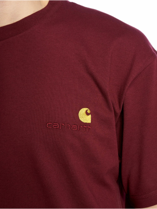 Carhartt WIP T-Shirt American Script rot