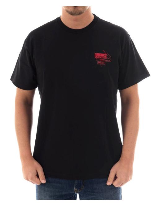Carhartt WIP T-Shirt Motel schwarz