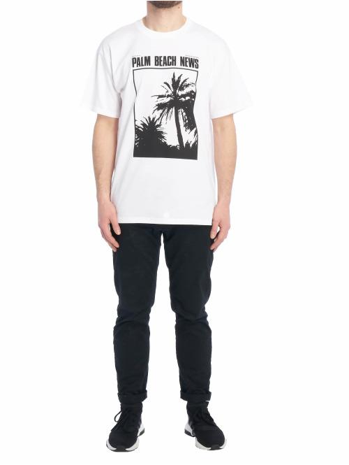 Carhartt WIP T-Shirt Tvc Palm Beach News weiß
