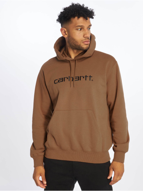 Carhartt WIP Zip Hoodie Label braun