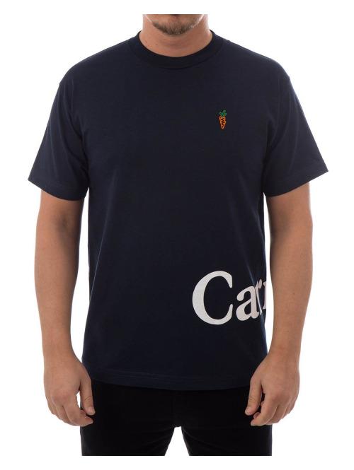 Carrots T-Shirt Wordmark blau