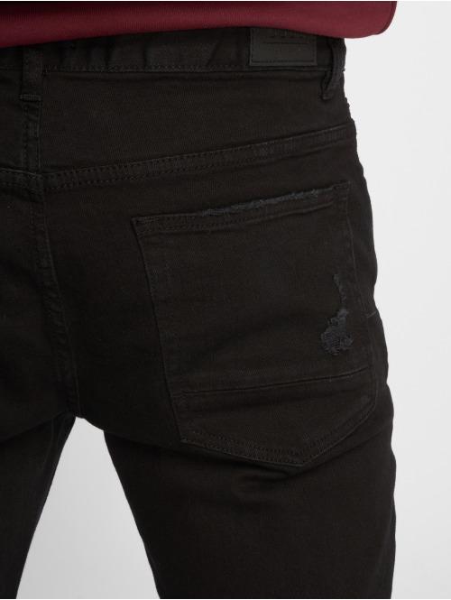 Cayler & Sons Straight Fit Jeans Alldd Paneled Inverted Biker Ian schwarz