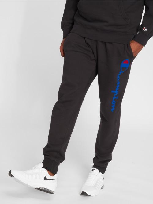 Champion Athletics Jogginghose Logo Rib Cuff schwarz