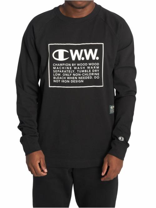 Champion Longsleeve by Wood Wood Rodney L/S Crewneck schwarz