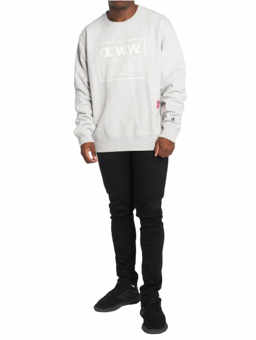 Champion Pullover by Wood Wood Mike Crewneck grau