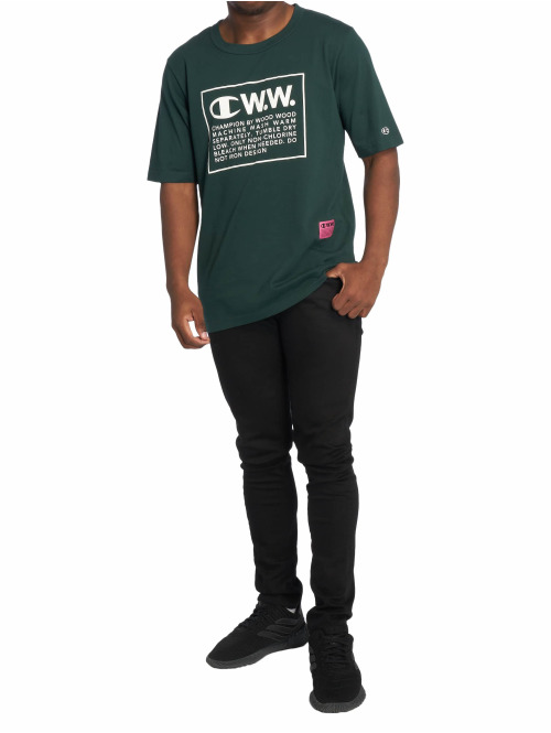 Champion T-Shirt by Wood Wood Rick Crewneck grün