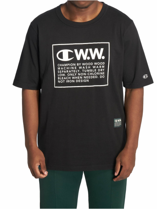 Champion T-Shirt by Wood Wood Rick Crewneck schwarz