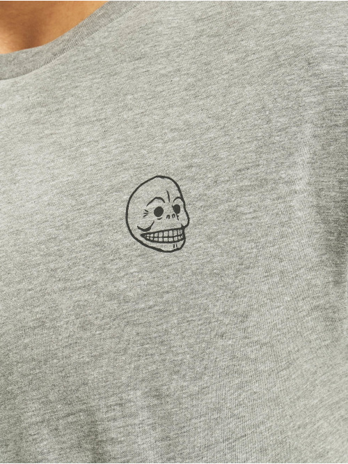 Cheap Monday T-Shirt Standard Tiny Skull grau