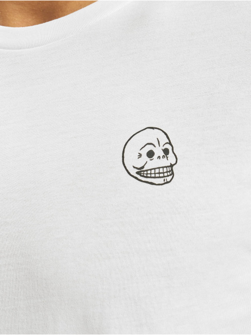 Cheap Monday T-Shirt Standard Tiny Skull weiß