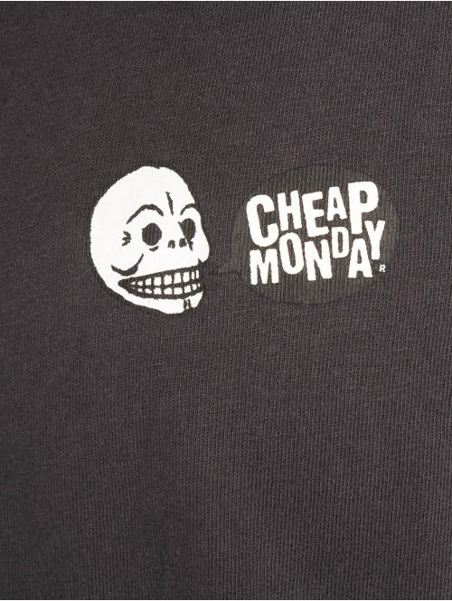 Cheap Monday Tank Tops Slack Speech Logo Used Wash schwarz