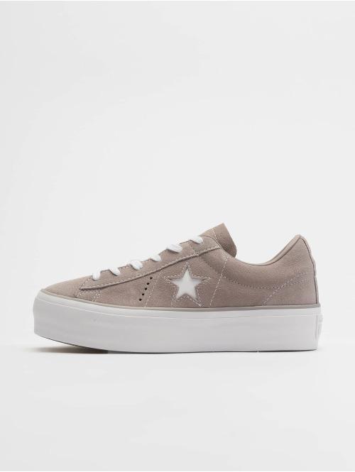 Converse Sneaker One Star Platform Ox grau