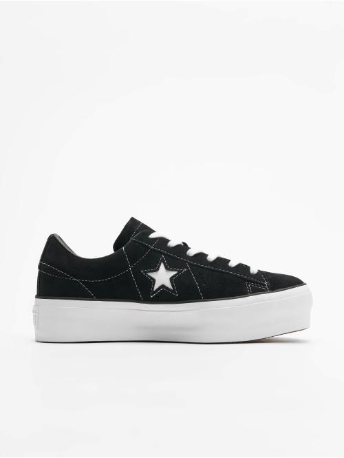 Converse Sneaker One Star Platform Ox schwarz