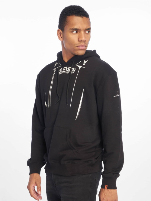 De Ferro Hoody All Over Drip schwarz