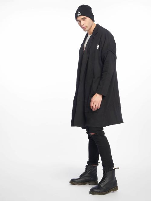 De Ferro Mantel Coat schwarz