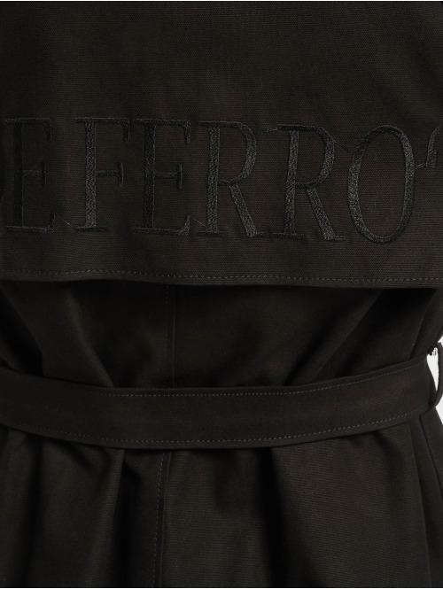 De Ferro Mantel Word Long schwarz