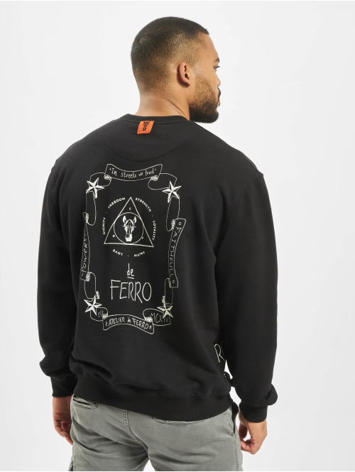 De Ferro Pullover Spine Fantasy Crew Love schwarz
