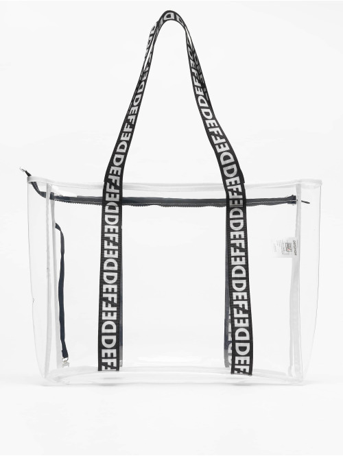 DEF Sac  Clear Shopper Bag White...