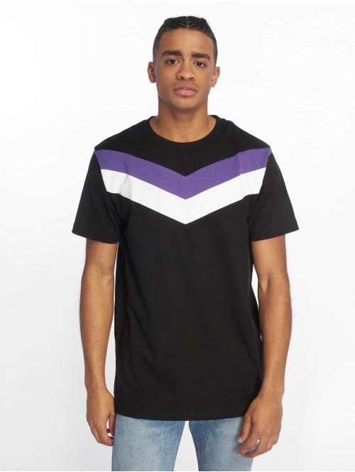 DEF T-Shirt  Chevron T-Shirt Black Vi...
