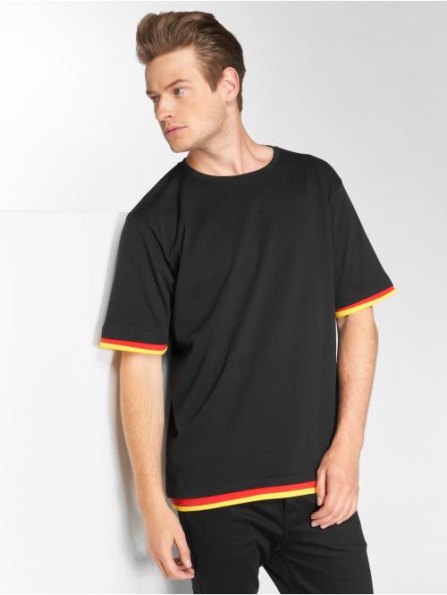 DEF T-Shirty German czarny