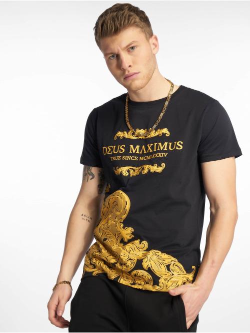 Deus Maximus t-shirt Geb zwart